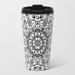 Moroccan Mandala – Black Ink Travel Mug