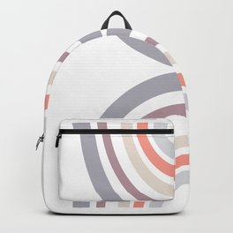 Modern Double Rainbow Hourglass in Muted Earth Tones Backpack