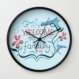 Welcome to the Family Wall Clock