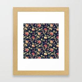 Shabby Floral Print Framed Art Print