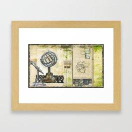 """Astrolabe, 1"" - by Fanitsa Petrou Framed Art Print"