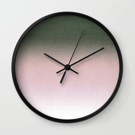 Morning fog , Ombre Wall Clock