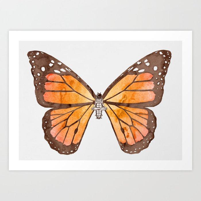 Caterpillar's nirvana Art Print
