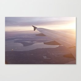 Flying Over the Puget Sound Canvas Print