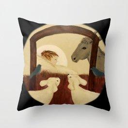 Nativity 2016 - Original Painting Throw Pillow