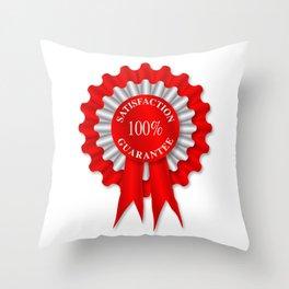 Satisfaction Guarantee Rosette Throw Pillow