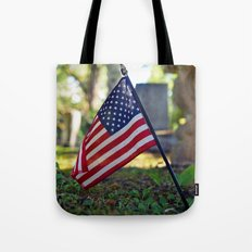 Solitary flag Tote Bag