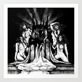 Evil King on Throne Art Print