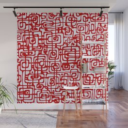 Red Line Wall Mural