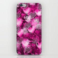 Light Bulb Hearts Series (pink) iPhone & iPod Skin