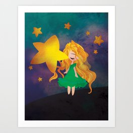 The Stars Lean Down to Kiss You Art Print
