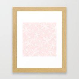Daisies in Love - Floral Daisy Summer Pattern Framed Art Print
