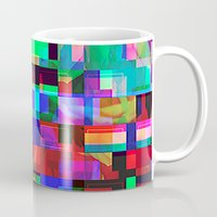 glitch Mugs featuring GLITCH by C O R N E L L