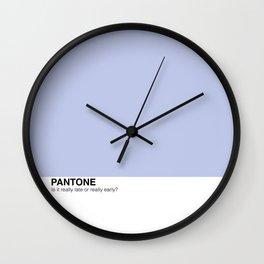 PLAYFUL PANTONES Wall Clock