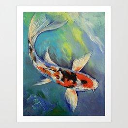 Showa Butterfly Koi Art Print