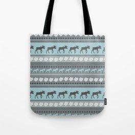 Moose Pattern Tote Bag