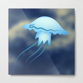 Sea Medusa Jellyfish Metal Print