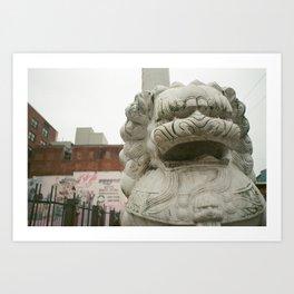 Guardian Lion Art Print
