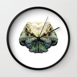 Komodo Dragon - Green Wall Clock