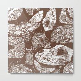 Bones in Brown Metal Print