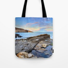 """Volcanic sea"". Cabo de Gata. Tote Bag"