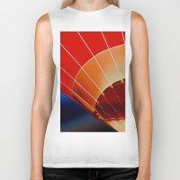 hot air balloon Biker Tanks featuring Hot Air Balloon by DistinctyDesign