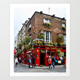 The Temple Bar Pub, Dublin Ireland Art Print