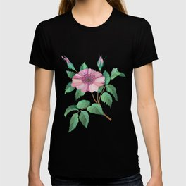 Abstract flower branch T-shirt