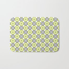 Cog Buttons - Green and Grey Bath Mat