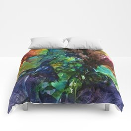 Green Man by Kathy Morton Stanion Comforters