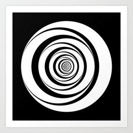 Black White Circles Optical Illusion Art Print