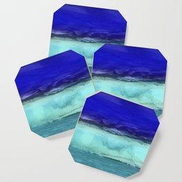 Midnight Waves Seascape Coaster