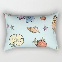 pretty sea shells Rectangular Pillow