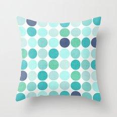 the blue dots Throw Pillow