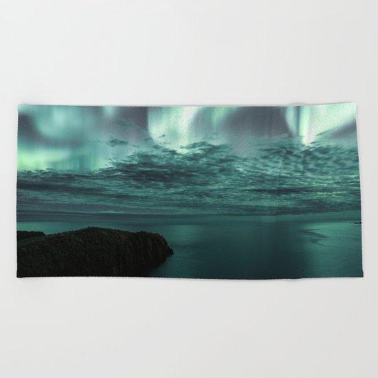 Aurora Borealis II Beach Towel
