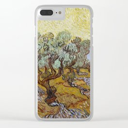 Olive Trees Clear iPhone Case