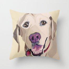 Emma the Yellow Lab- Pet Portrait Throw Pillow
