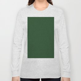 Green Scottish Fabric High Resolution Long Sleeve T-shirt