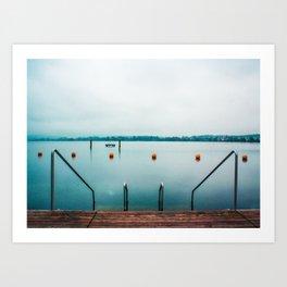 Cold Swim Art Print