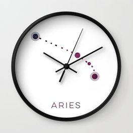 ARIES STAR CONSTELLATION ZODIAC SIGN Wall Clock
