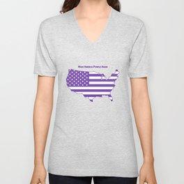 Make America Purple Again United States Map Unisex V-Neck