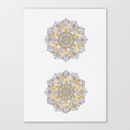 double gold mandala Canvas Print