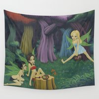 fairies Wall Tapestries featuring Weed Fairies by Tem's House