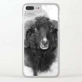 The black sheep, black and white photography Clear iPhone Case