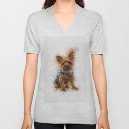 Yorkshire Terrier Art Unisex V-Neck