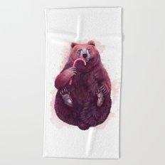 sweet bear Beach Towel