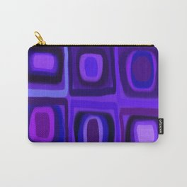 Violets in Blue Windows Carry-All Pouch