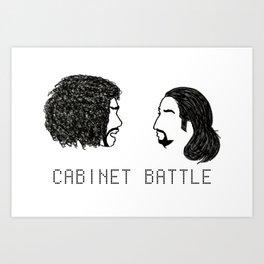 Jefferson Hamilton Cabinet Battle Art Print