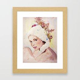 a pretty face Framed Art Print