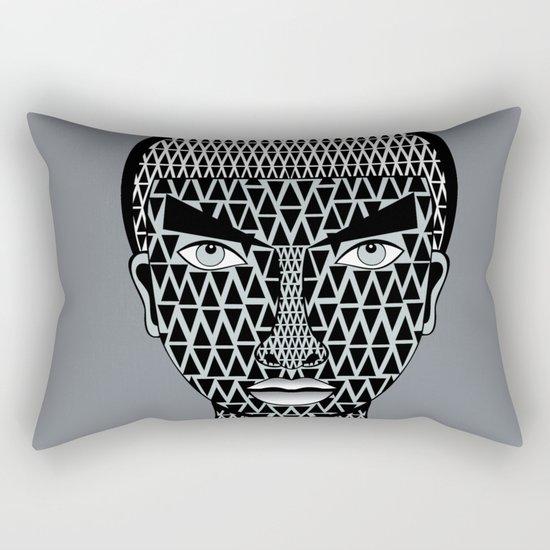 geometric geisha Rectangular Pillow